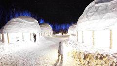 تخت خواب های یخی در هتل یخی+عکس