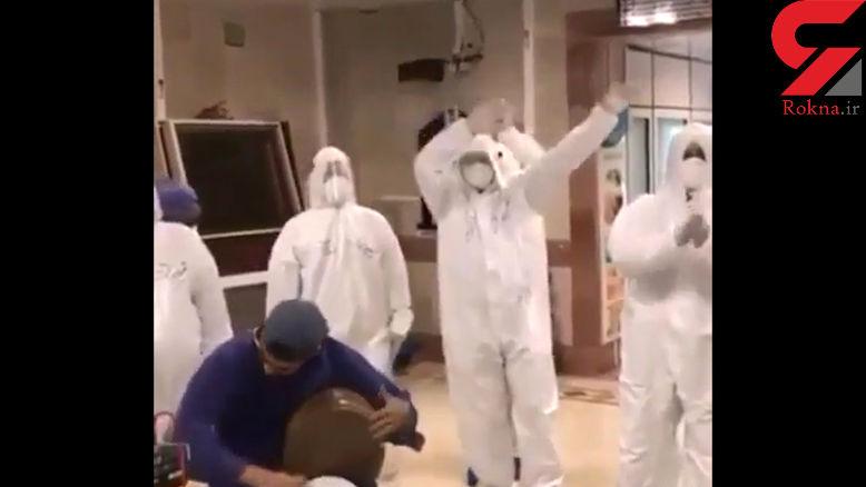 فیلم اجرای موسیقی زنده در یکی از بیمارستان ها در روزهای کرونایی
