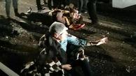 واژگونی وحشتناک اتوبوس تبریز - تهران / 22 کشته و زخمی در بامداد امروز + عکس