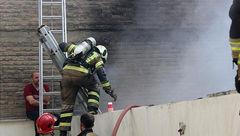 آتش سوزی انبار پارچه و پوشاک در بهار شمالی