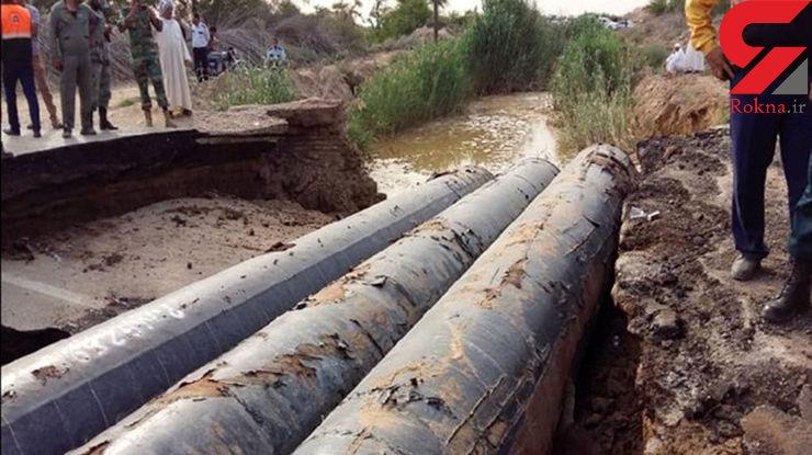 پل محور ارتباطی اهواز ـ خرمشهر تخریب شد