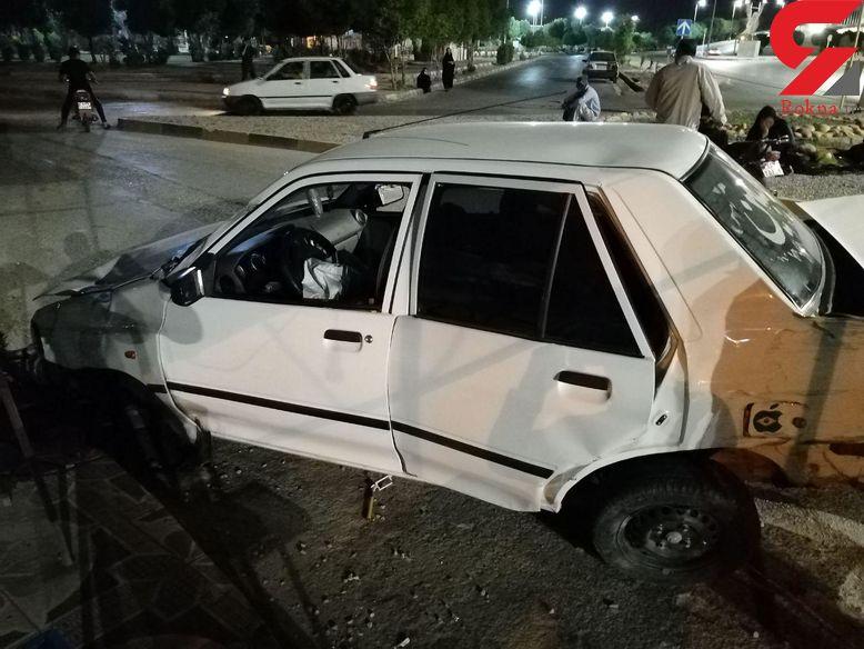 حمله افراد مسلح به یک راننده پراید در خرمشهر / صبحگاه امروز اتفاق افتاد + تصاویر