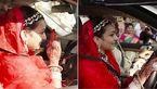 عروس هندی ماشین عروسی را خودش راند + عکس