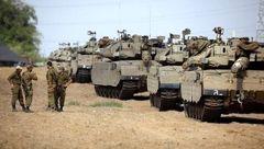استقرار تانک های رژیم صهیونیستی در مرزهای نوار غزه