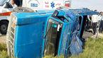 واژگونی مرگبار وانت نیسان در فسا /11 مرد پشت وانت نشسته بودند+ عکس