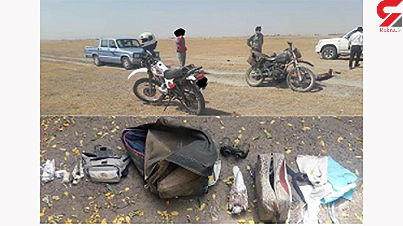 صیادان حرفهای پرندگان شکاری در دام محیط زیست نمین گرفتار شدند