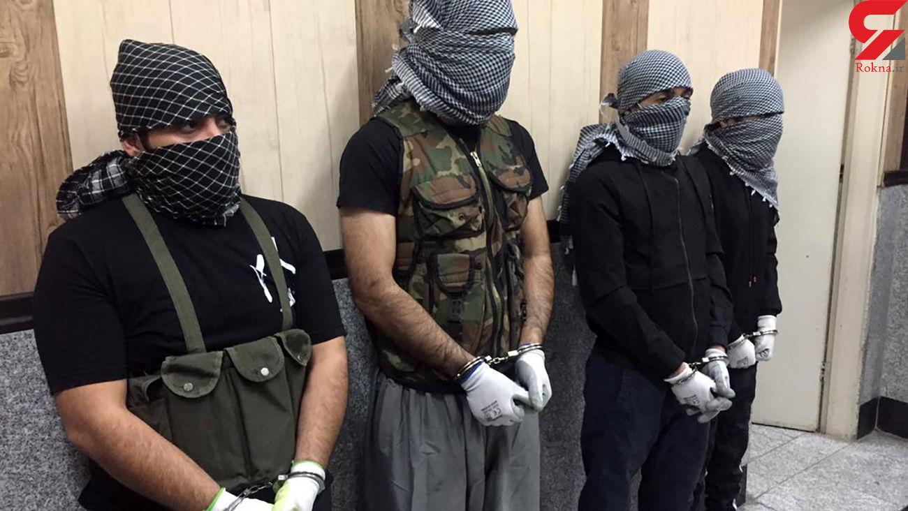 عکس های دزدان مسلح 20 کیلو طلا در تهران + فیلم و جزئیات