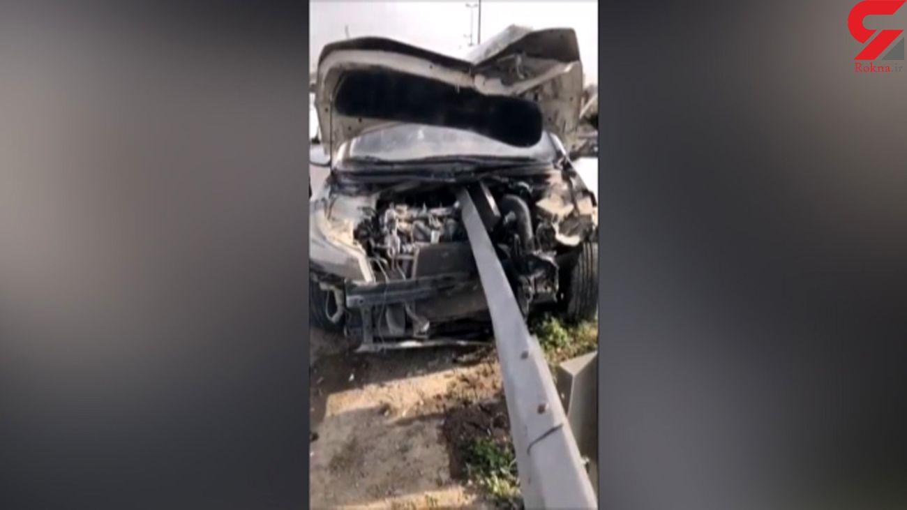 فیلم از یک تصادف که راننده اش خوش شانس بود + جزییات
