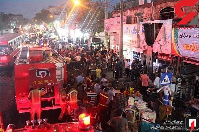 آتش سوزی در مغازه رنگ فروشی در تهرانپارس + عکس