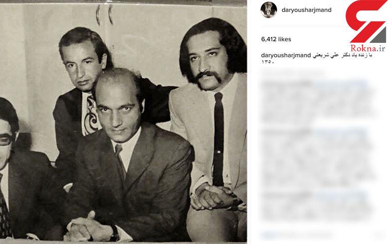 بازیگر مشهور ایرانی ۴۵ سال پیش در کنار دکتر علی شریعتی +عکس