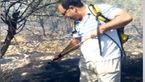 این مرد ایلامی یک تنه آتش جنگل را خاموش کرد! + فیلم