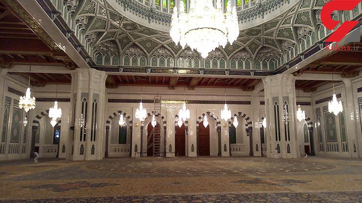 فرش ایرانی در یکی از مقدس ترین مکان های جهان +تصاویر