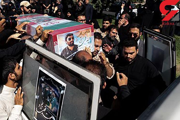 امروز پیکر شهید فتحی نژاد تشییع شد + عکس