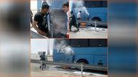 آتش سوزی هولناک اتوبوس مسافربری زابل - زاهدان + عکس