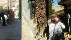 حریق علمک گاز در خیابان رازی خرم آباد + عکس