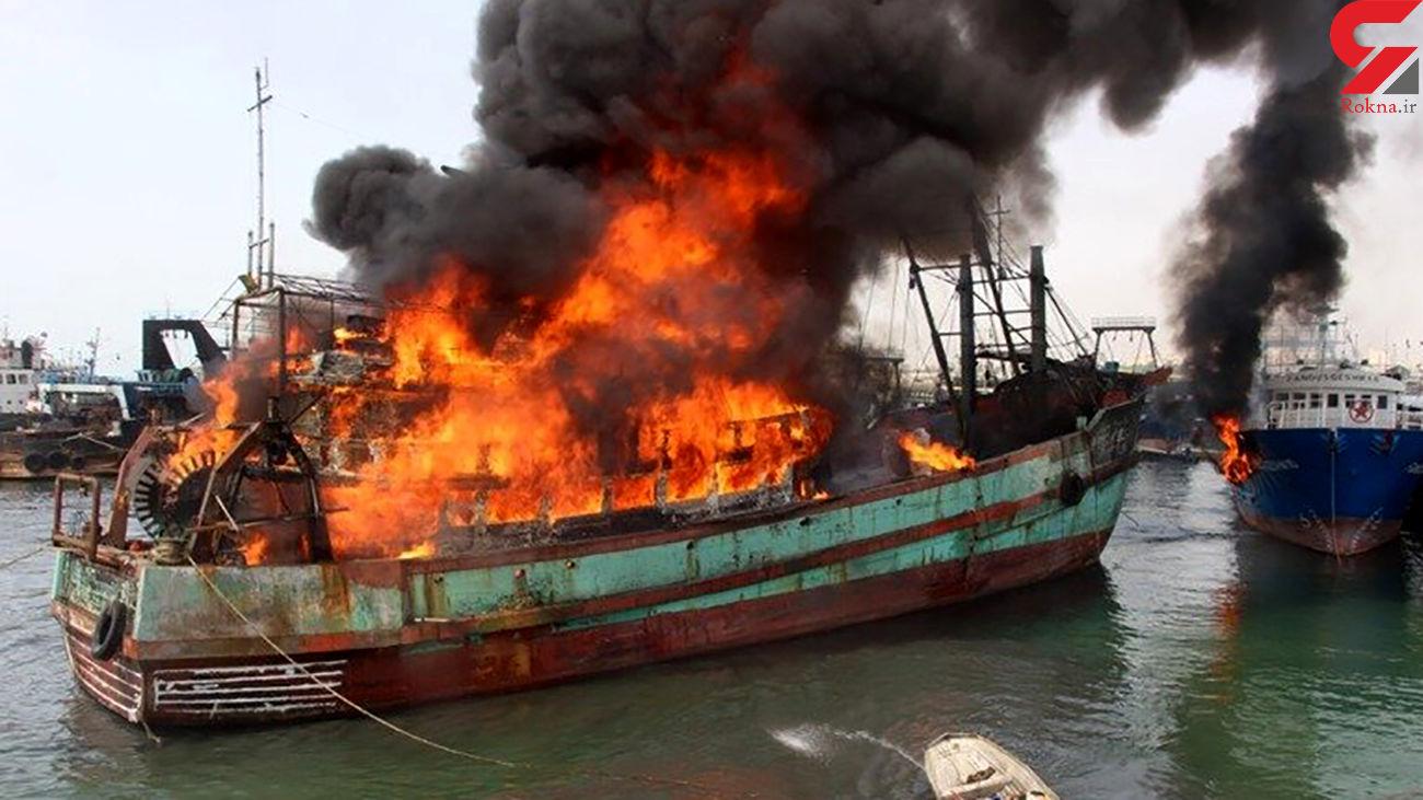 تخمین خسارت ۱۵۰ میلیارد ریالی آتش سوزی در اسکله بندرکنگ