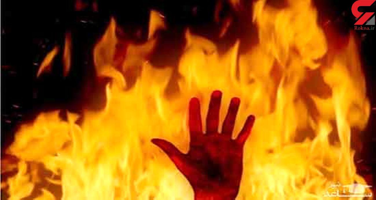 نجات 6 نفر از شعله های آتش