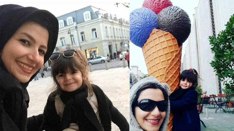 تفریحات جالب ملیکا زارعی و دخترش مانلی در خارج از ایران + تصاویر