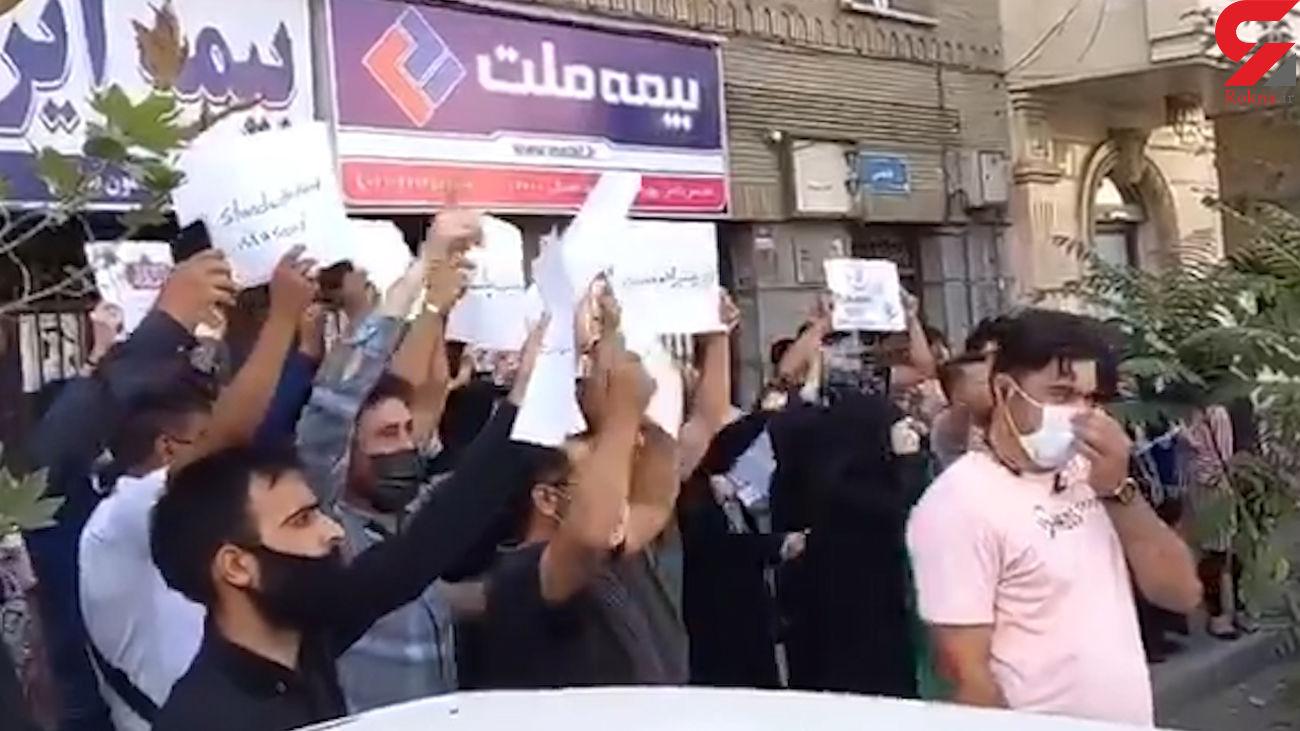 تجمع اعتراضی مقابل سفارت پاکستان در تهران + فیلم