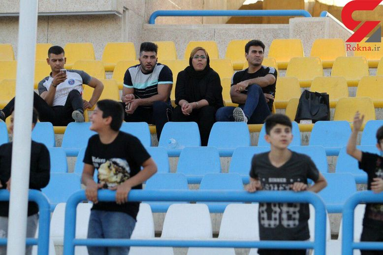 یک زن تماشاگر ویژه بازی سرخپوشان پاکدشت و قشقایی شیراز+عکس