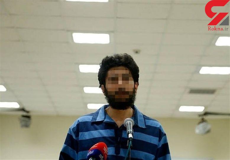 ضارب شهید حدادی زیر حرف های خود زد + عکس