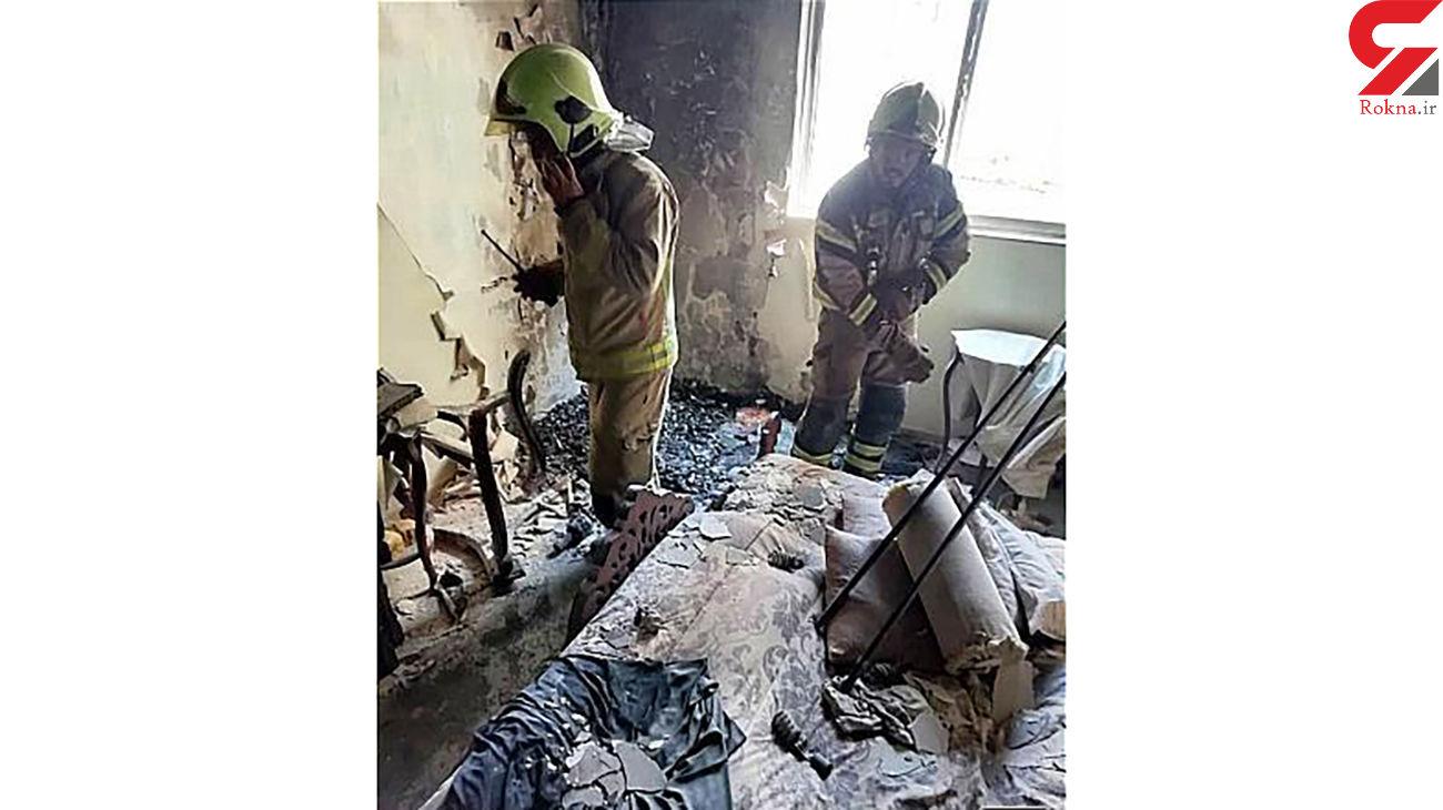 نجات 15 زن و مرد و کودک در آتش سوزی / در بلوار ارتش رخ داد +عکس ها
