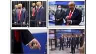 بالاخره ترامپ با ماسک دیده شد + عکس