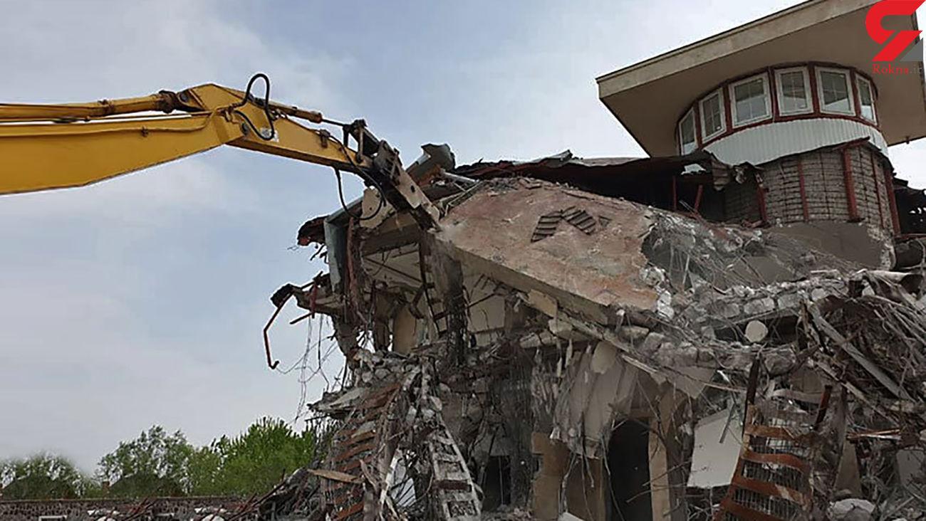 تخریب 43ویلای غیرمجاز مجلل در استان تهران
