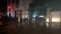 4 نفر از آتش سوزی خودرو در ساری نجات یافتند