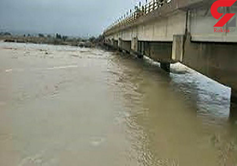 سیلاب جاده جاسک - بشاگرد مسدود شد