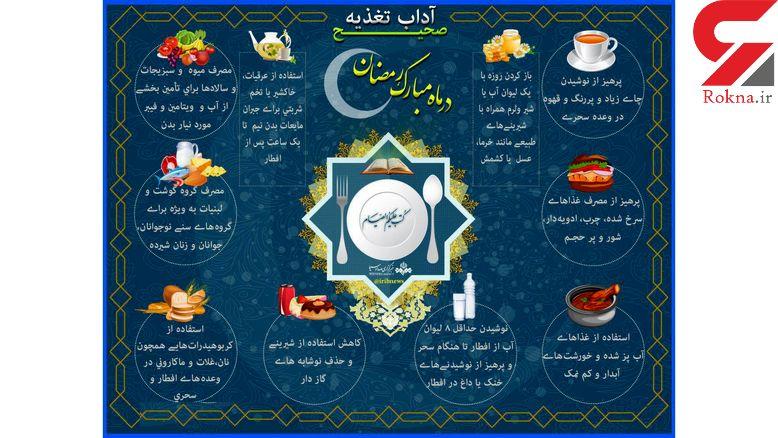 آداب تغذیه در ماه مبارک رمضان+ عکس