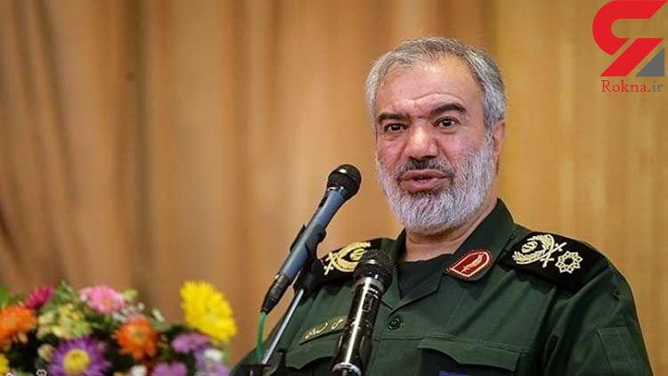 دریادار علی فدوی: جرأت شلیک یک تیر به سمت ایران را ندارند