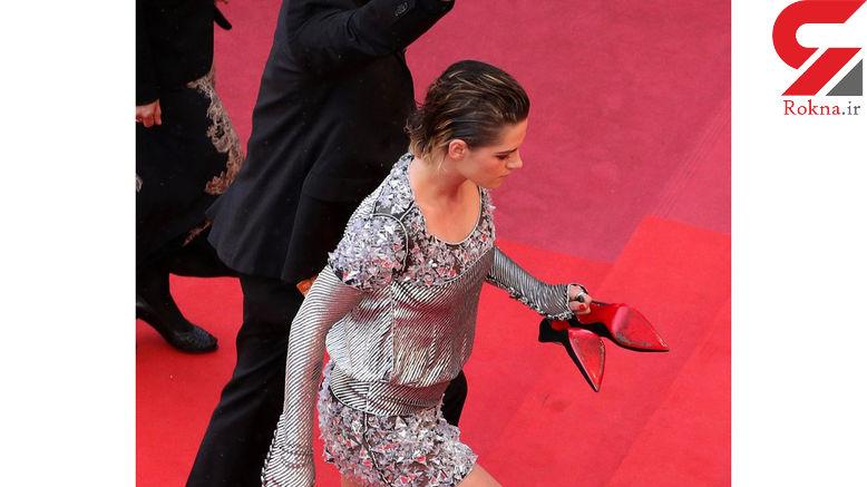 اعتراض عجیب خانم بازیگر  روی فرش قرمز کن! +تصاویر