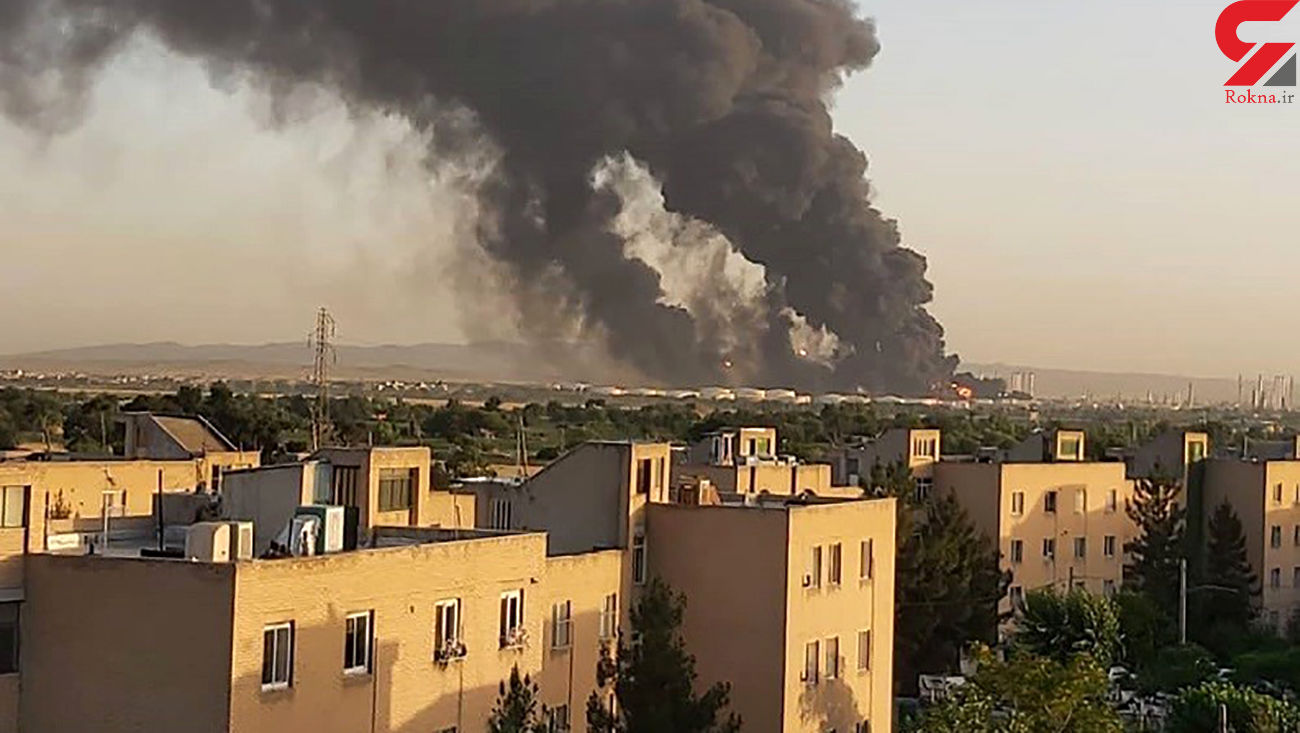 اولین فیلم از آتش سوزی بزرگ در پالایشگاه تهران