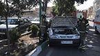 تصادف 2 خودرو در تهران / یک تن زخمی شد + عکس ها