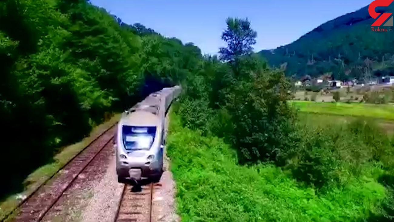 افتتاح خط دوم راهآهن کرج - قزوین + فیلم