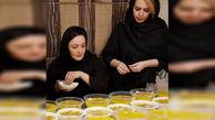 «شیلا خداداد» در حال تزیین شله زرد نذری +عکس