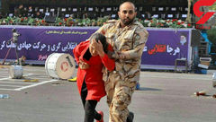اولین گفتگو با سرباز غیور حادثه تروریستی اهواز / خودم را سپر دختر جوان کردم + فیلم