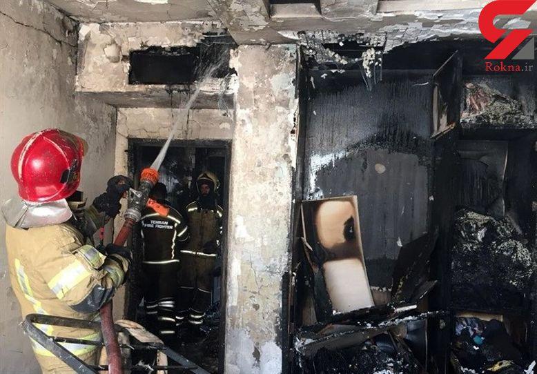 فیلم آتش سوزی وحشتناک خانه اعیانی در سعادت آباد / نجات زن جوان در دقیقه 90