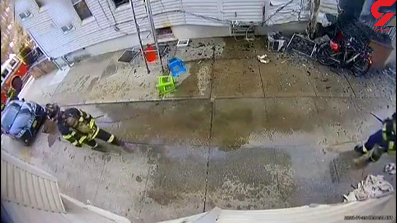 آتشنشان فداکار در عملیات آتش سوزی مصدوم شد + فیلم