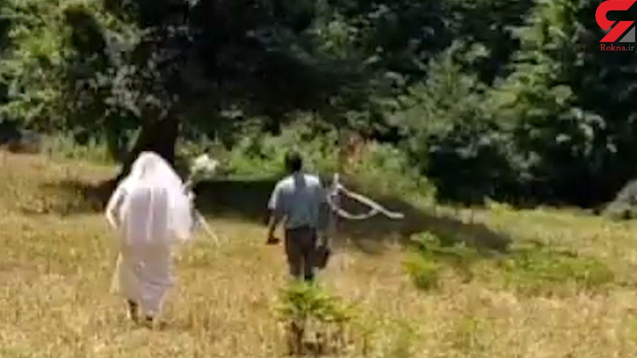 فیلم عروس و داماد دوچرخه سوار غوغا کرد