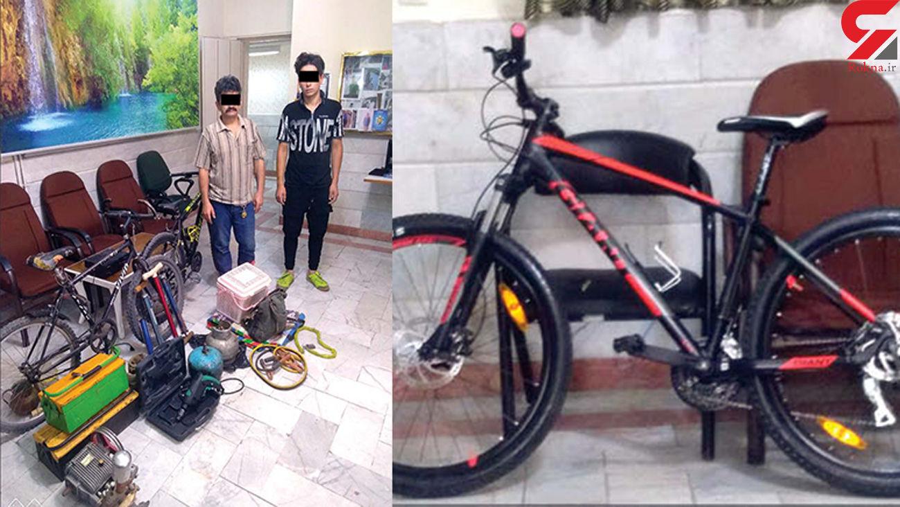 دزدان دوچرخه پشت دیوار !