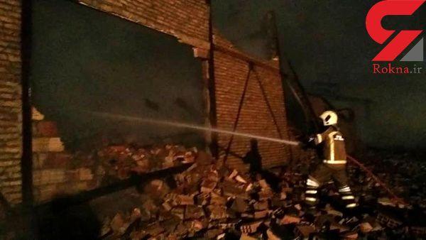 کارگاه مبلسازی در آتش سوخت / در تهران رخ داد + فیلم