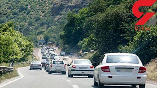 ترافیک در مسیر جنوب به شمال محور چالوس سنگین است