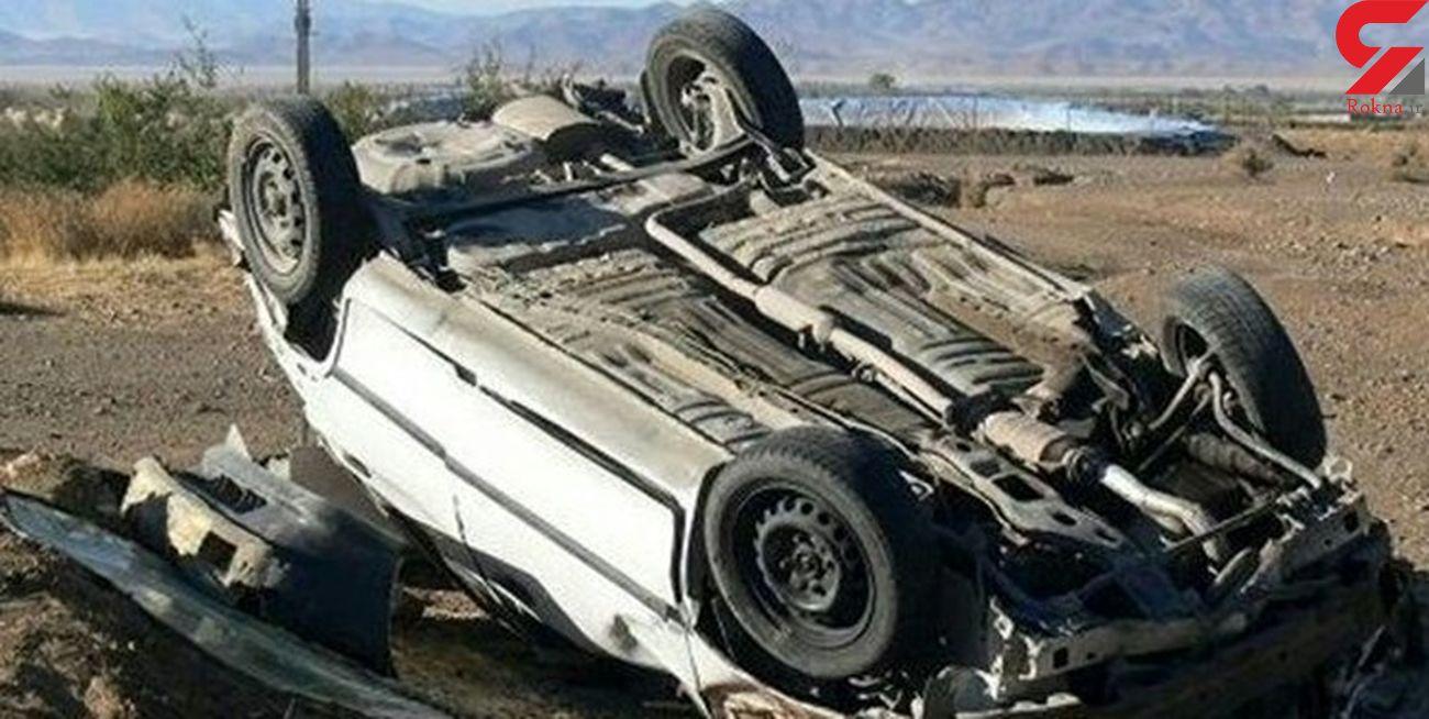 تصادف مرگبار در داراب / یک کشته و 4 زخمی