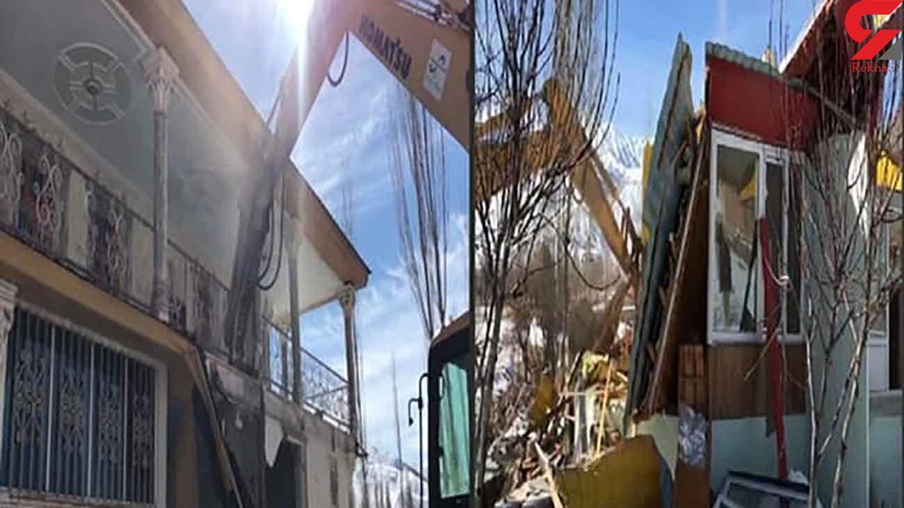 تخریب ویلای غیرمجاز 2 مقام مسئول در فیروزکوه