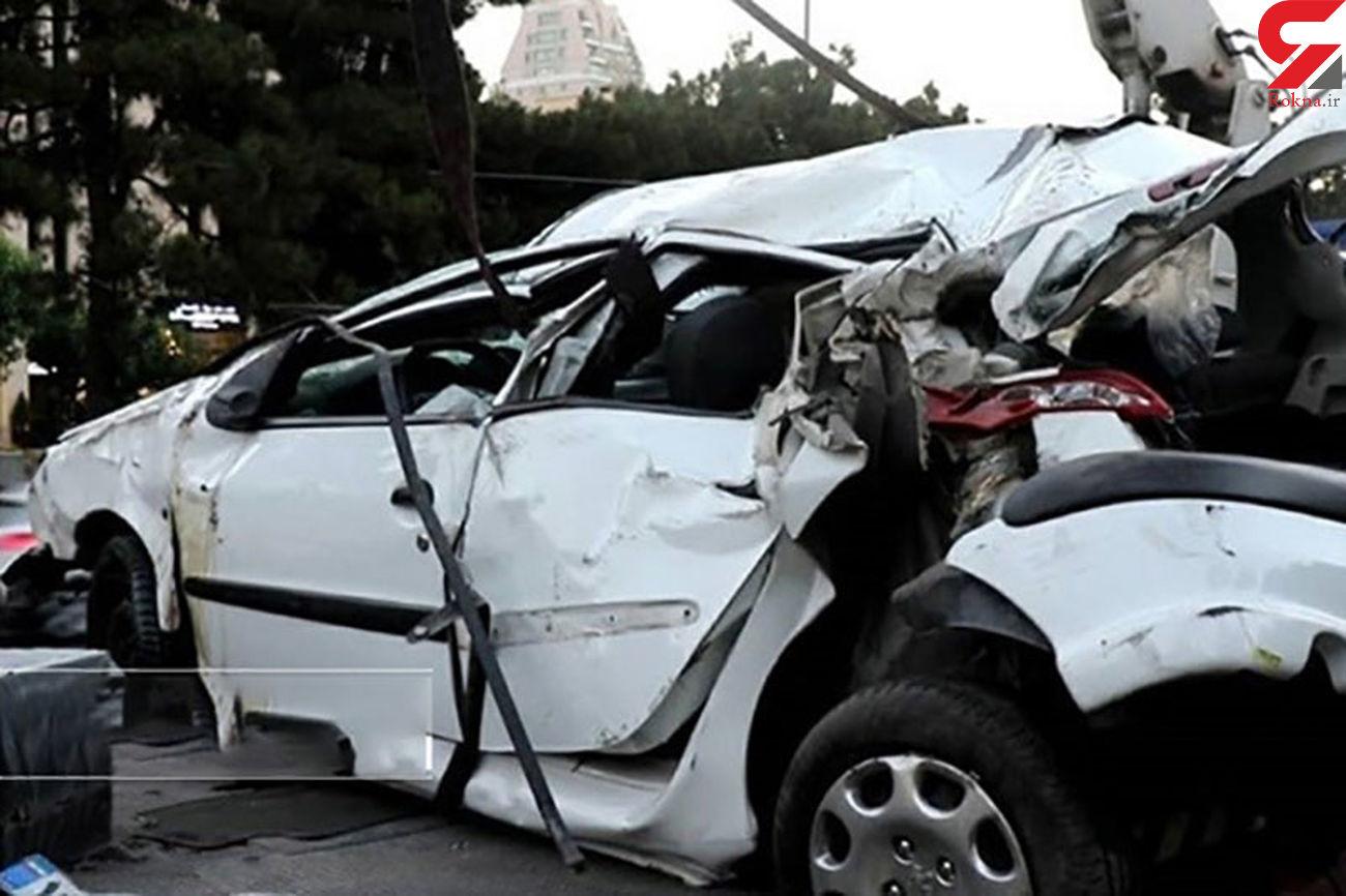 واکنش  شرکت عمران پردیس در تصادف مرگبار پژو 206  + فیلم و عکس
