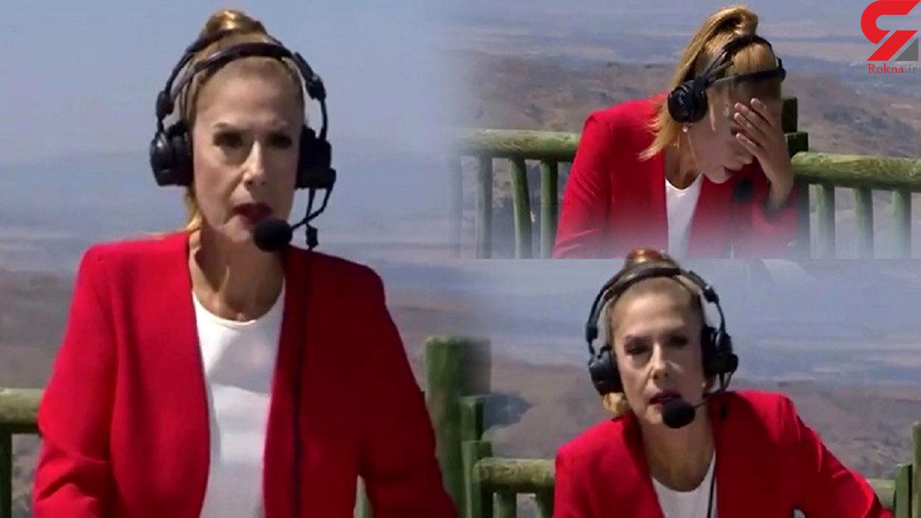 خانم مجری تلویزیون در برنامه زنده غش کردن + فیلم