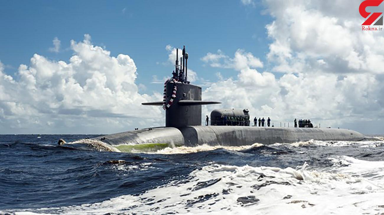 ارتش زیردریایی آمریکایی را هنگام خروج از تنگه هرمز رصد کرد