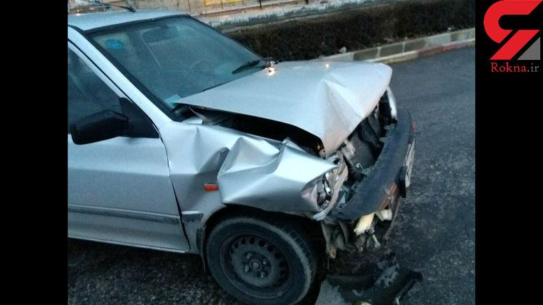 تصادف مرگبار 2 نیسان آبی با یک پراید در فیروزآباد
